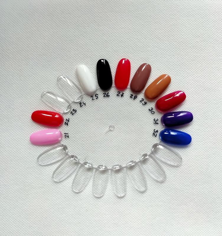Гель лак для ногтей белый перламутровый №1 нюдовая коллекция c... - Фото 4