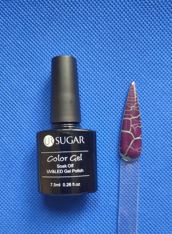 Гель лак для ногтей кракелюр фиолетовый