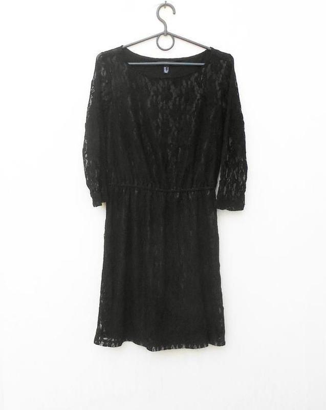 Черное кружевное вечернее нарядное коктейльное платье