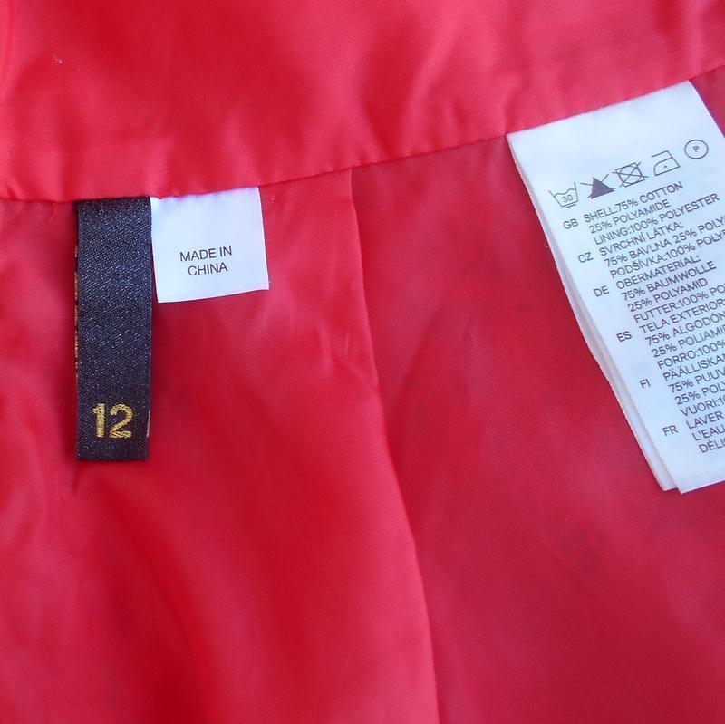 Красная нарядная кружевная юбка на молнии - Фото 2