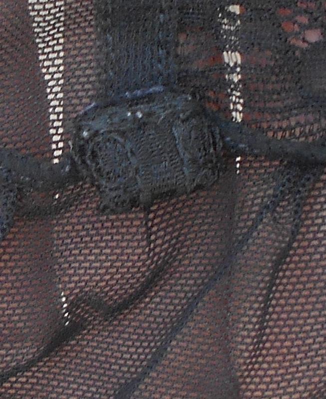 Черный кружевной сексуальный эротический пеньюар размер 12-14 ... - Фото 4