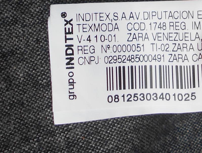 Серое классическое платье без рукавов 66% из вискозы 24% шерст... - Фото 5