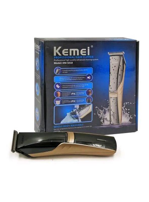 Машинка для стрижки аккумуляторная Kemei Km-5018 - Фото 7