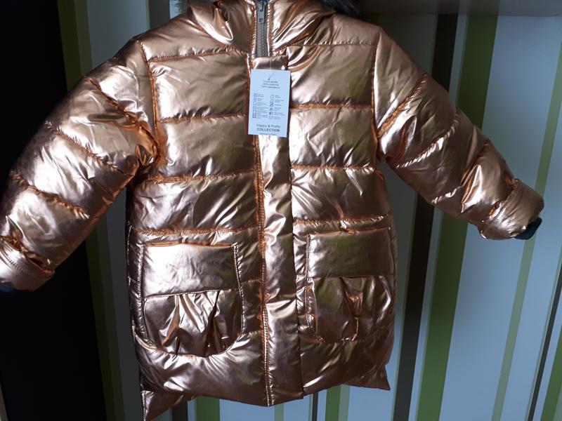 Зимняя пальто курточка для девочки - Фото 2