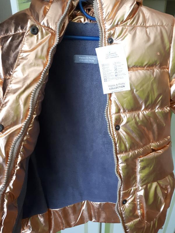 Зимняя пальто курточка для девочки - Фото 3