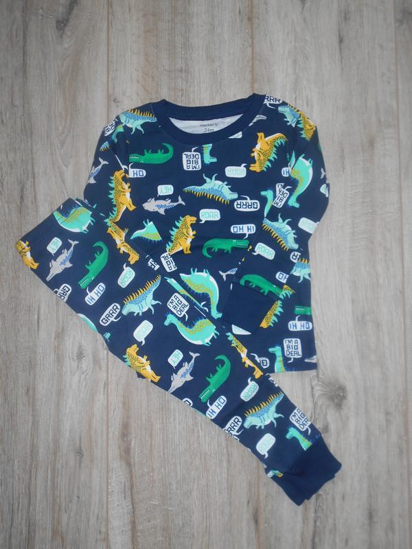 Хлопковая пижама carters - Фото 2