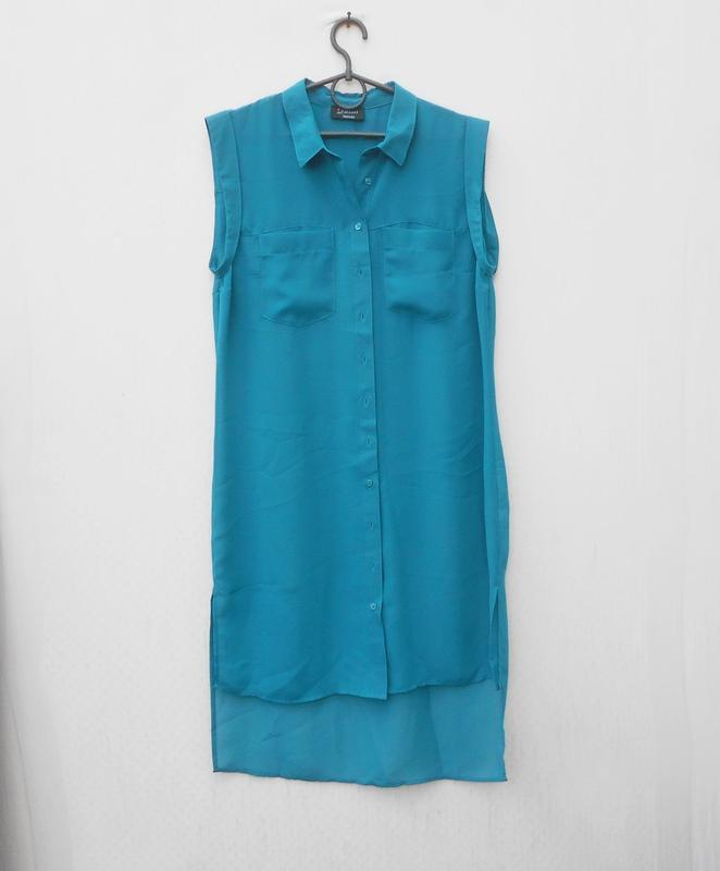 Летнее свободное шифоновое платье рубашка туника пляжная