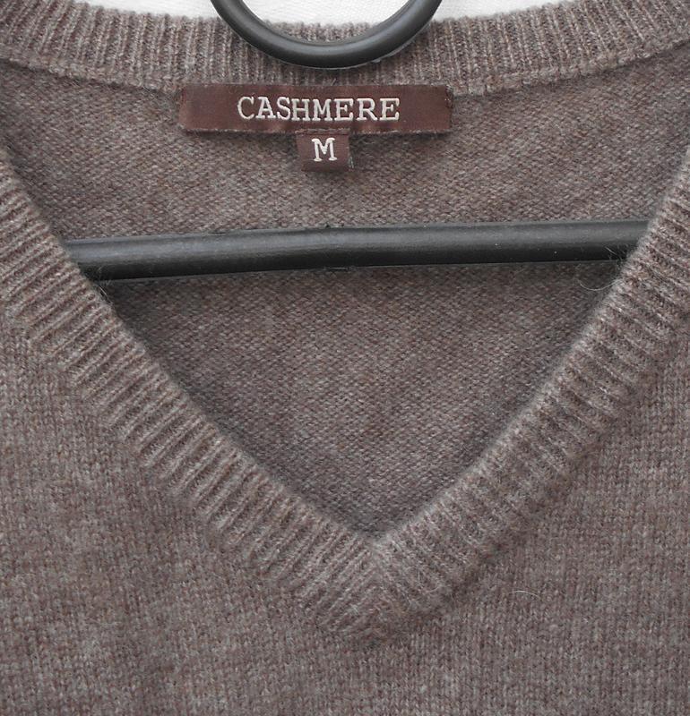 Осенний зимний кашемировый свитер пуловер с длинным рукавом - Фото 2