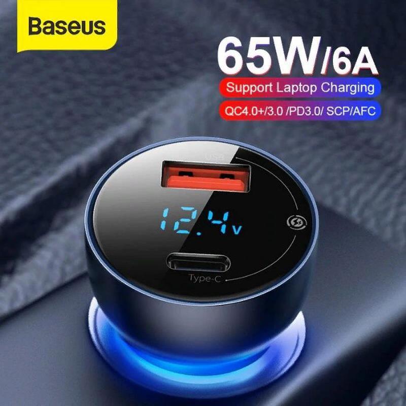Автомобильное зарядное Автозарядка Baseus QC 4.0 65W. на IZI.ua (6227223)