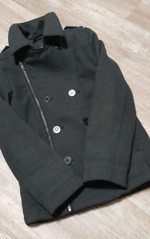 Стильное модное пальто h&m / бомбер / демисезонное пальто /бушлак - Фото 3