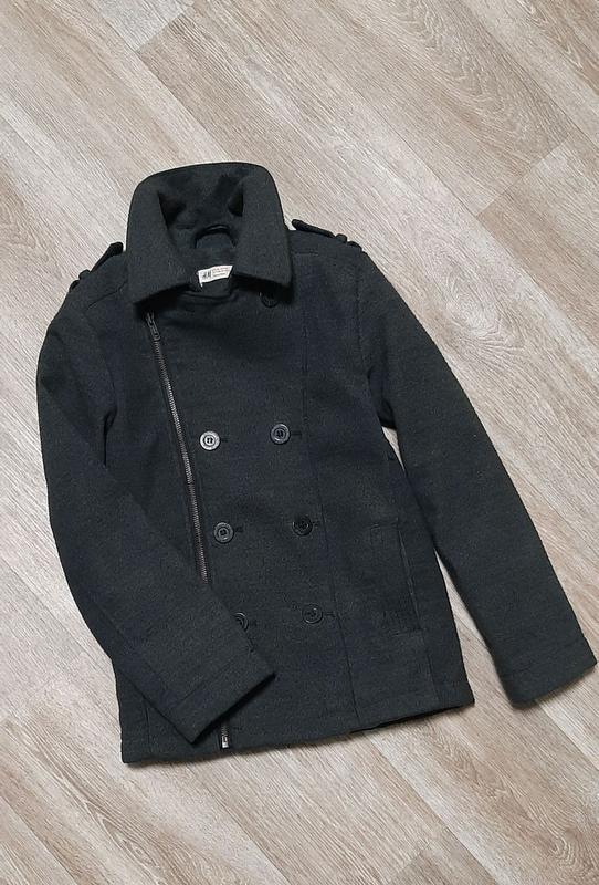 Стильное модное пальто h&m / бомбер / демисезонное пальто /бушлак - Фото 2