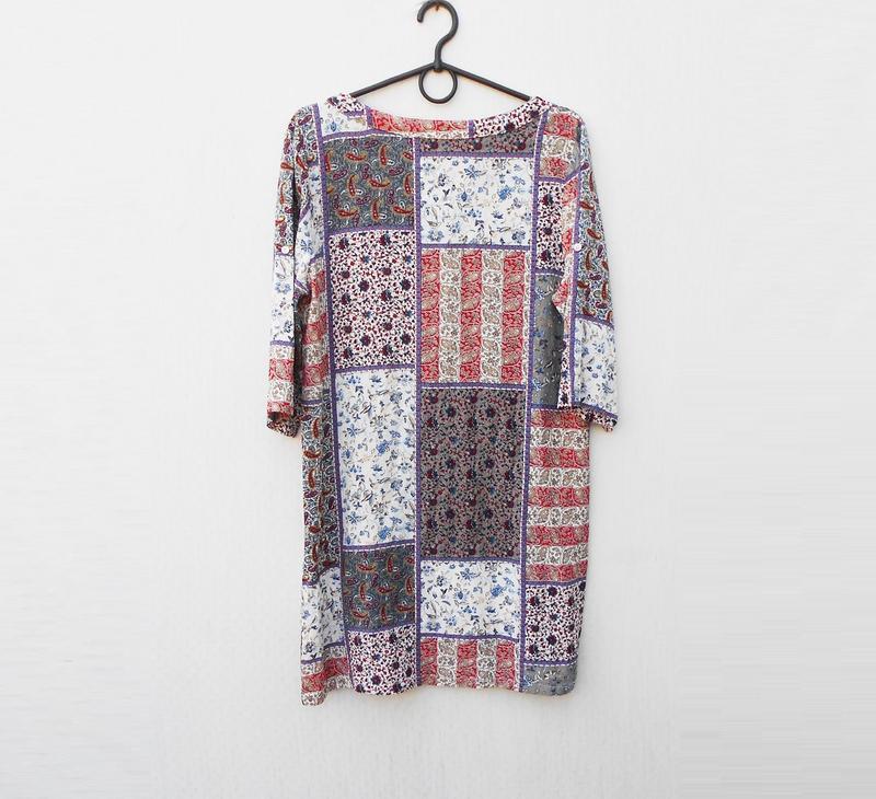 Летнее легкое свободное платье из вискозы с орнаментом с рукав... - Фото 4