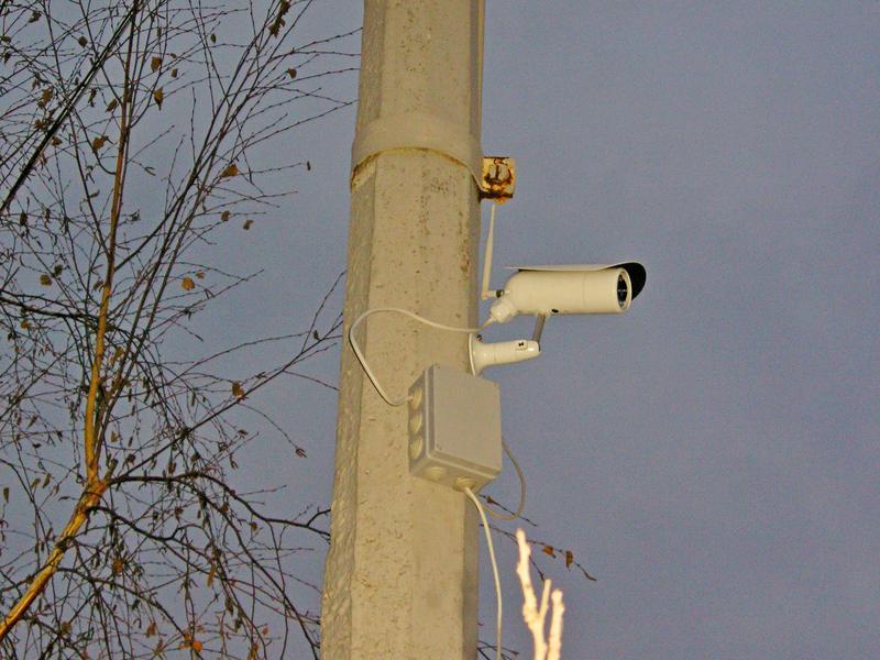 Камеру Установка на Стовп ВідеоСпостереження