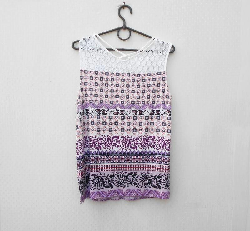 Летняя блузка с кружевом - Фото 3