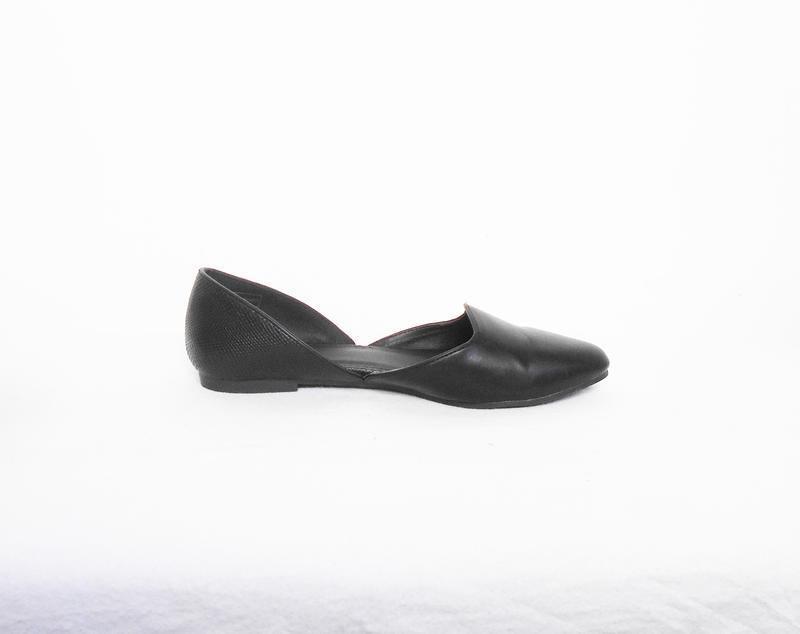 Черные классические балетки лодочки - Фото 3