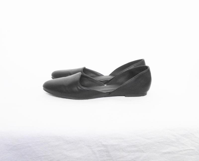 Черные классические балетки лодочки - Фото 5