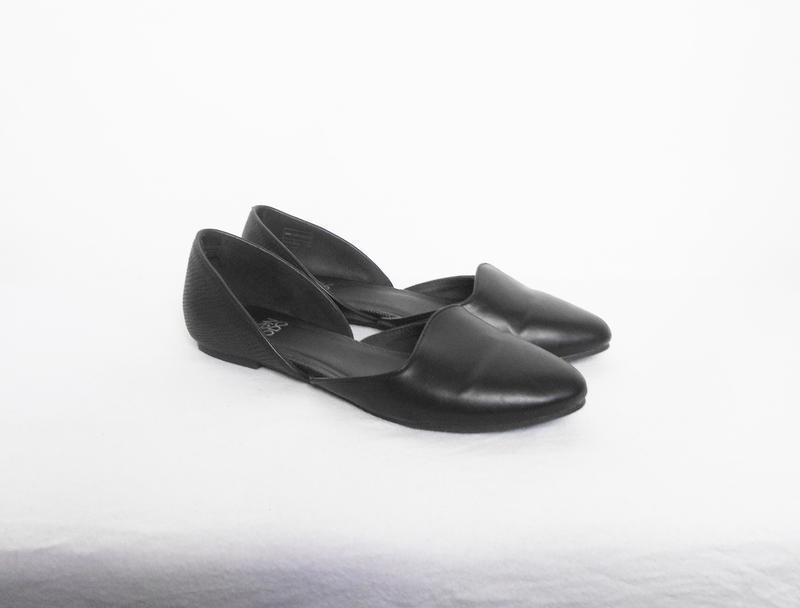 Черные классические балетки лодочки - Фото 6