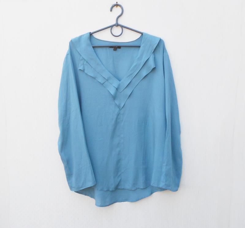 Легкая летняя свободная блузка с длинным рукавом из вискозы fl...