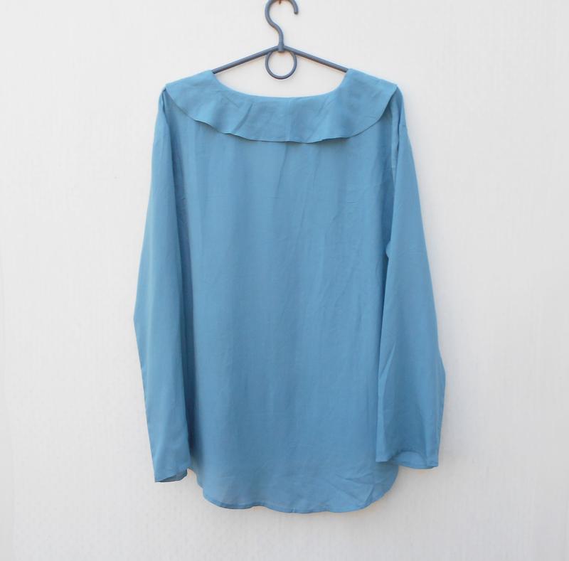 Легкая летняя свободная блузка с длинным рукавом из вискозы fl... - Фото 2
