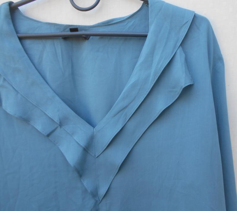 Легкая летняя свободная блузка с длинным рукавом из вискозы fl... - Фото 3