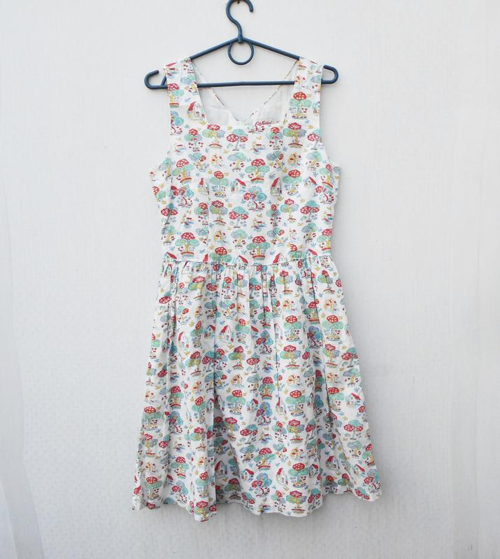 Летнее хлопковое брендовое платье в принт cath kidston