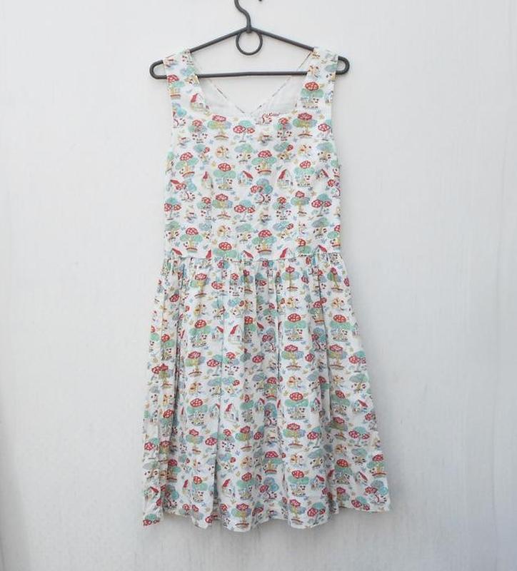 Летнее хлопковое брендовое платье в принт cath kidston - Фото 5