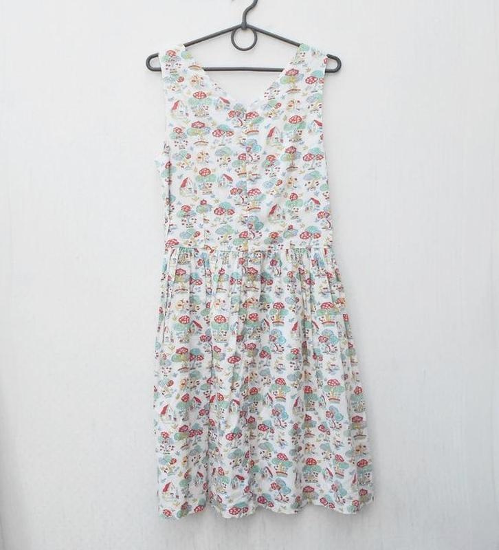 Летнее хлопковое брендовое платье в принт cath kidston - Фото 6