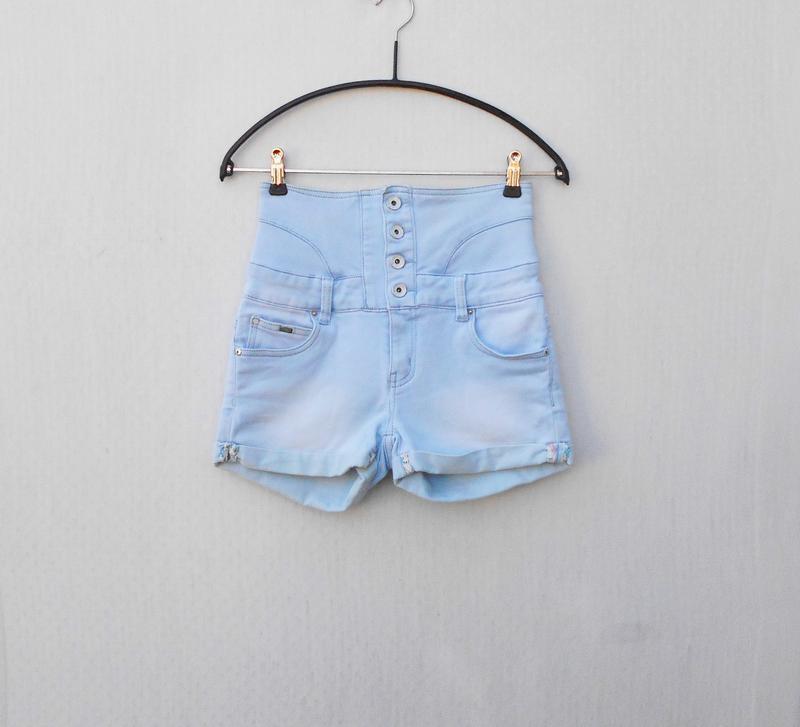 Высокие джинсовые шорты  toxik 3
