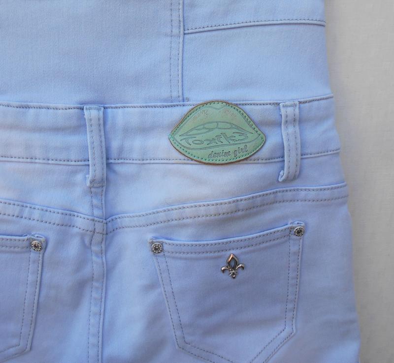 Высокие джинсовые шорты  toxik 3 - Фото 5