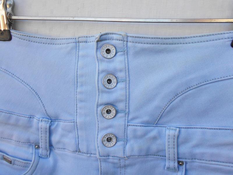 Высокие джинсовые шорты  toxik 3 - Фото 6