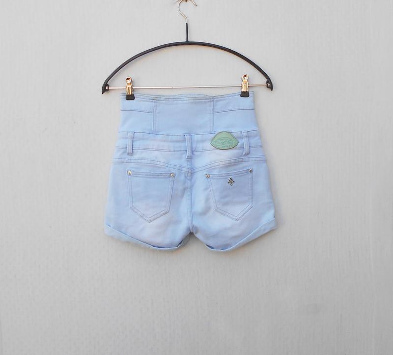 Высокие джинсовые шорты  toxik 3 - Фото 7