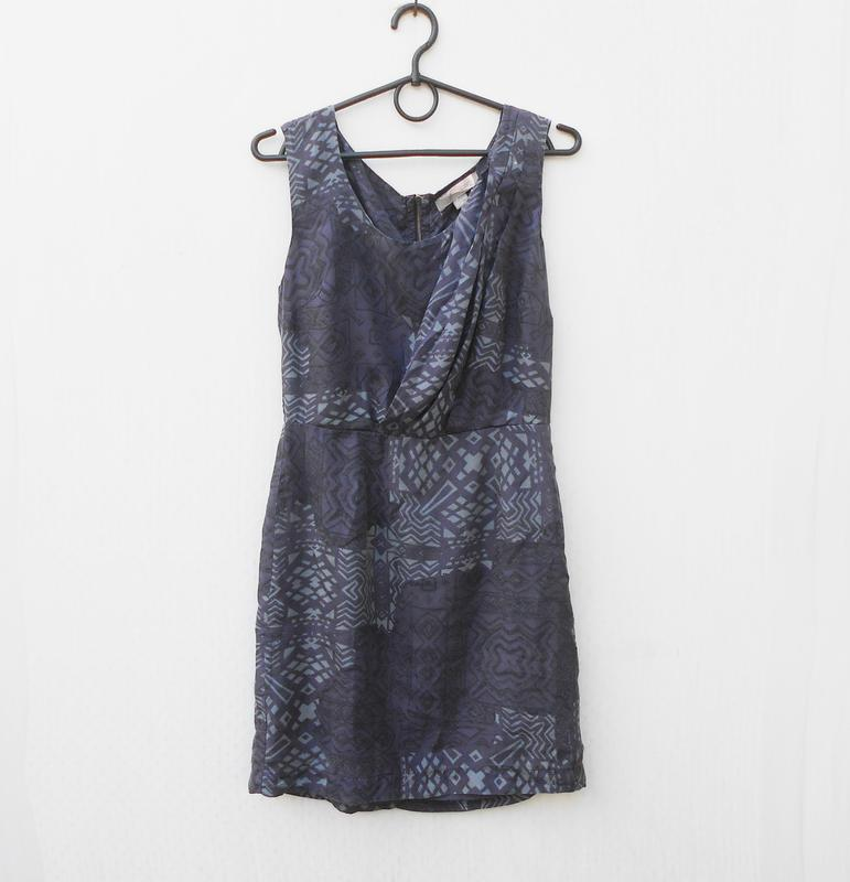 Летнее шелковое платье на молнии love 21