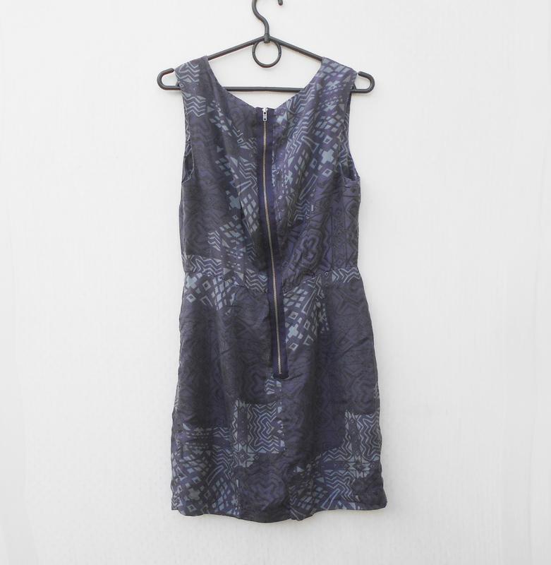 Летнее шелковое платье на молнии love 21 - Фото 4
