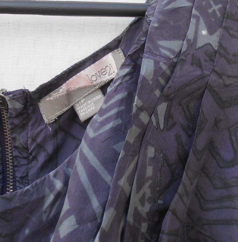 Летнее шелковое платье на молнии love 21 - Фото 5