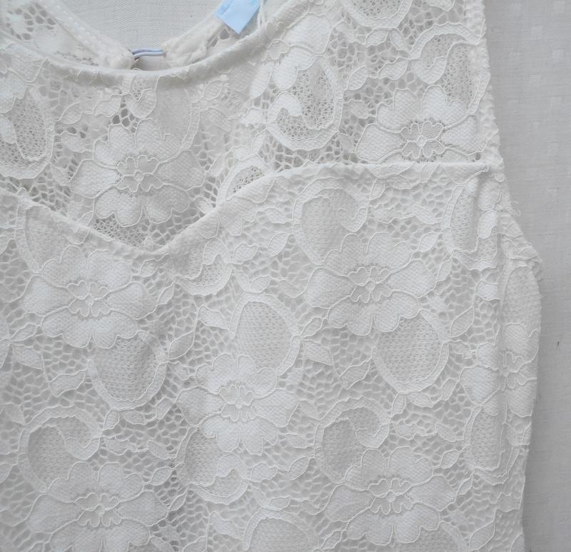 Белое нарядное кружевное сексуальное летнее платье на молнии s... - Фото 4