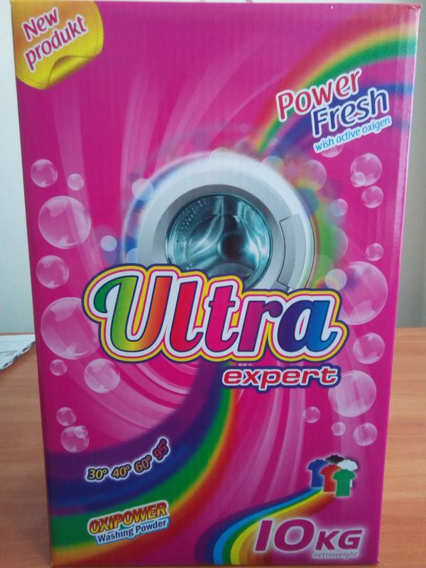 ULTRA Expert Стиральный порошок 10 кг Бесфосфатый Упаковка Картон - Фото 3