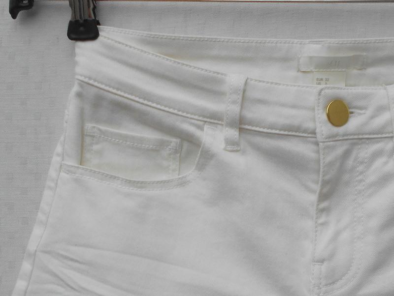 Белые джинсовые шорты - Фото 3