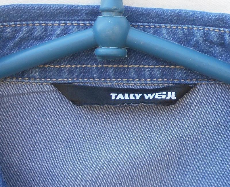 Джинсовая рубашка с воротником с длинным рукавом - Фото 4