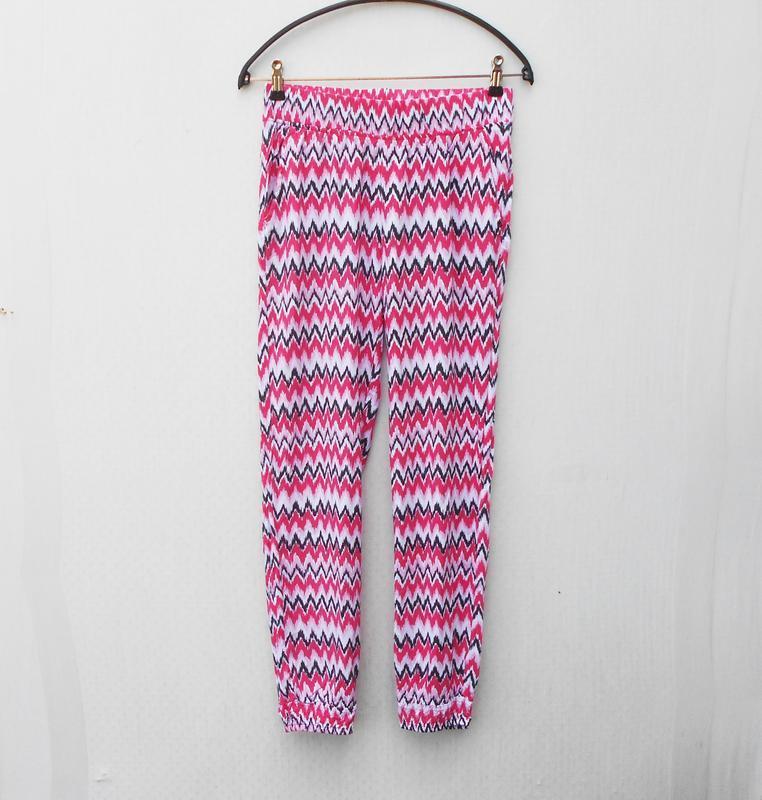 Летние легкие штанишки из вискозы с орнаментом на резинке 🌿