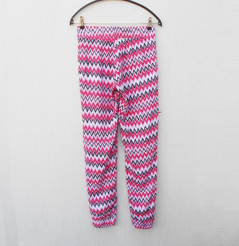 Летние легкие штанишки из вискозы с орнаментом на резинке 🌿 - Фото 3