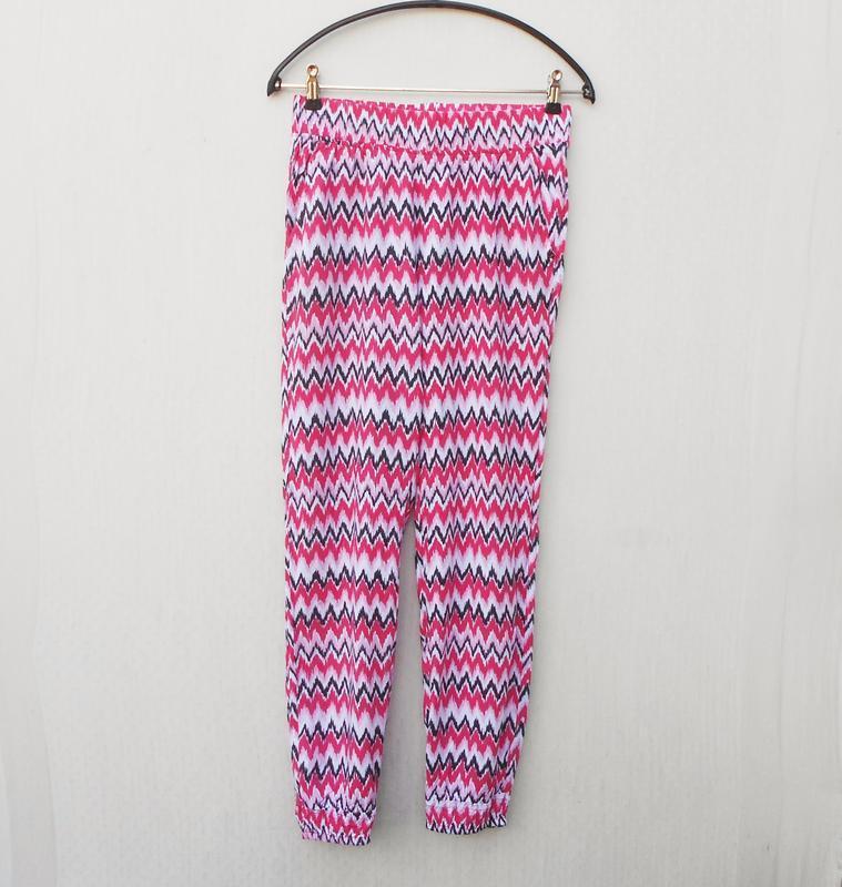 Летние легкие штанишки из вискозы с орнаментом на резинке 🌿 - Фото 5