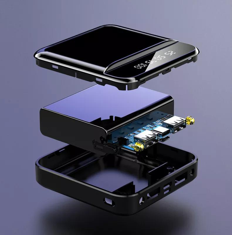 Power Bank 12000 mAh, 2 USB Порта, 1 Микро, 1 Type-C - Фото 4