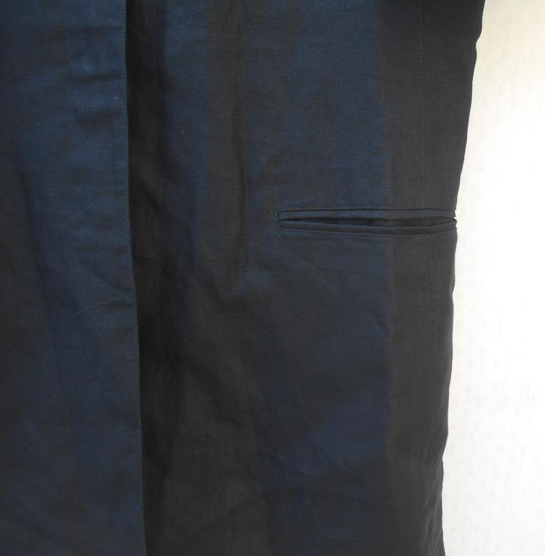 Черное льняное платье -жакет на пуговицах с коротким рукавом 🌿 - Фото 2