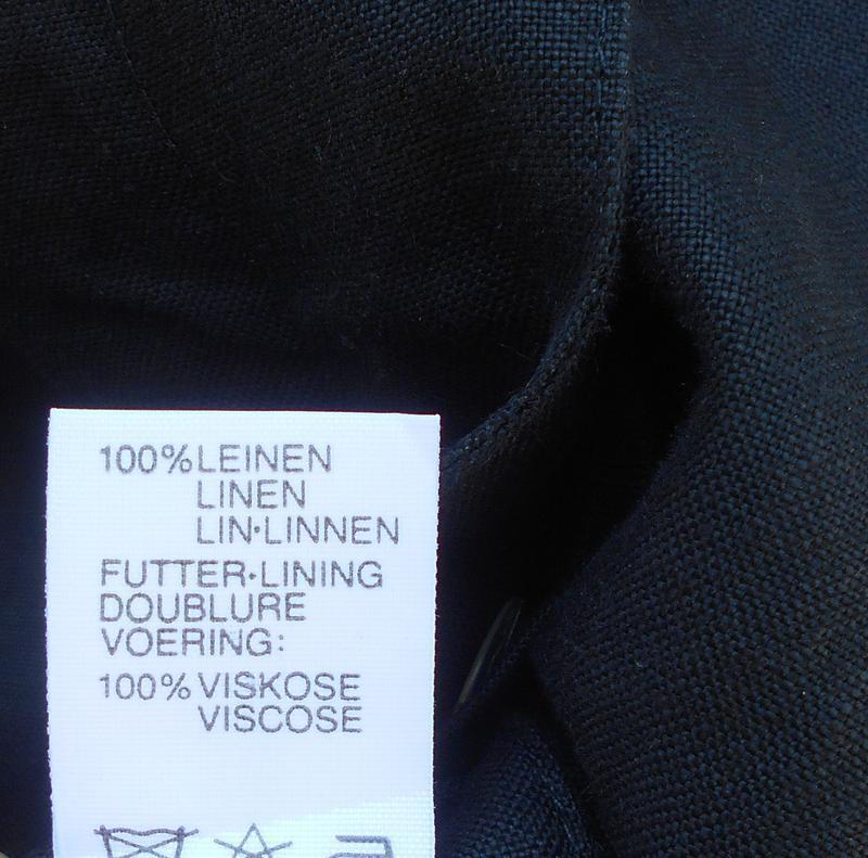 Черное льняное платье -жакет на пуговицах с коротким рукавом 🌿 - Фото 4