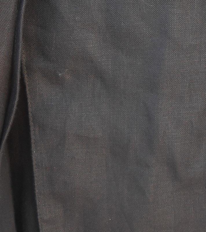 Черное льняное платье -жакет на пуговицах с коротким рукавом 🌿 - Фото 5