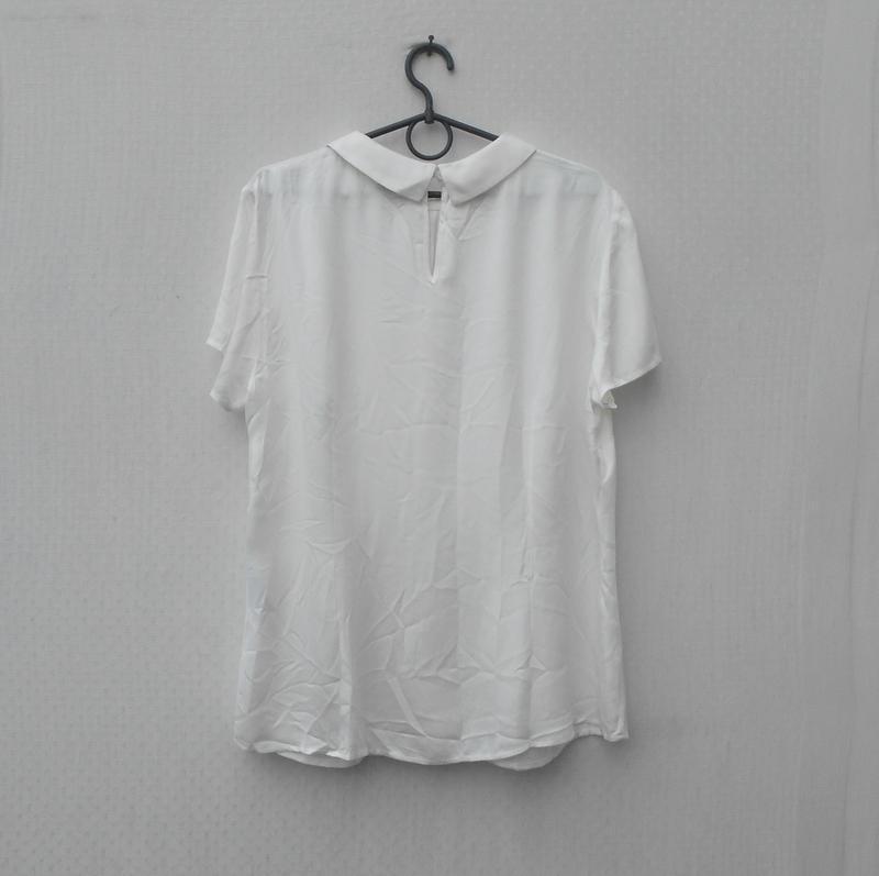 Белая нарядная летняя блузка из вискозы - Фото 2