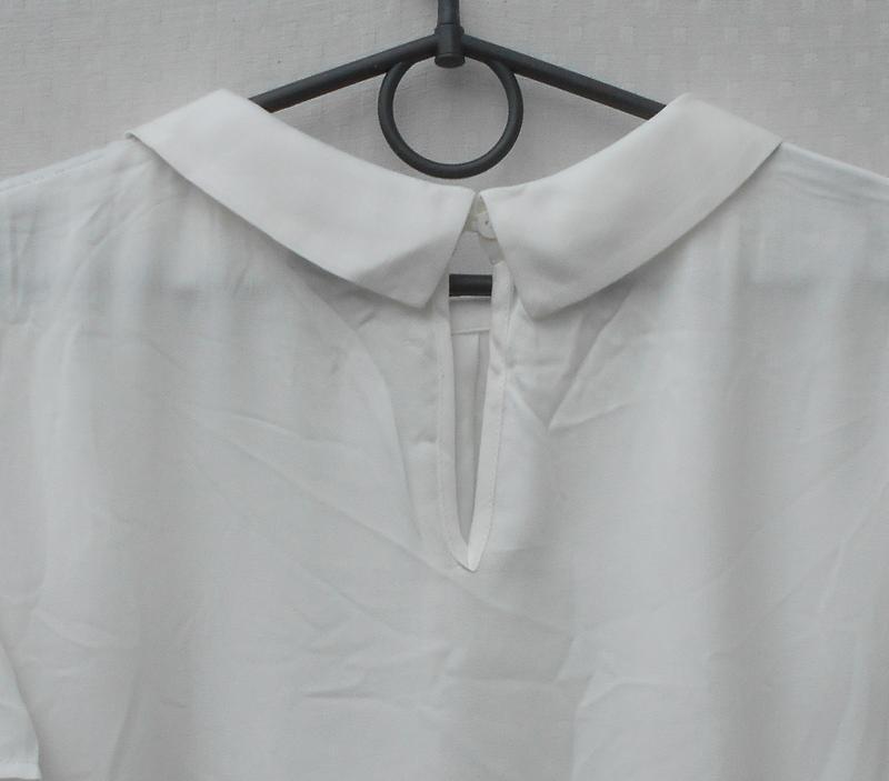 Белая нарядная летняя блузка из вискозы - Фото 4