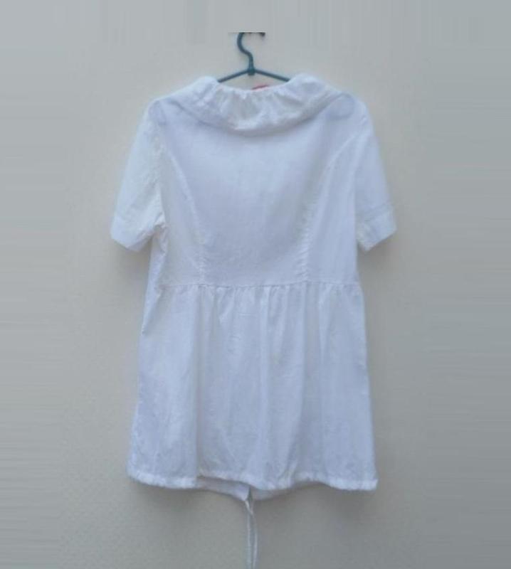 Белое летнее легкое хлопковое платье рубашка туника пляжная 🌿 - Фото 2