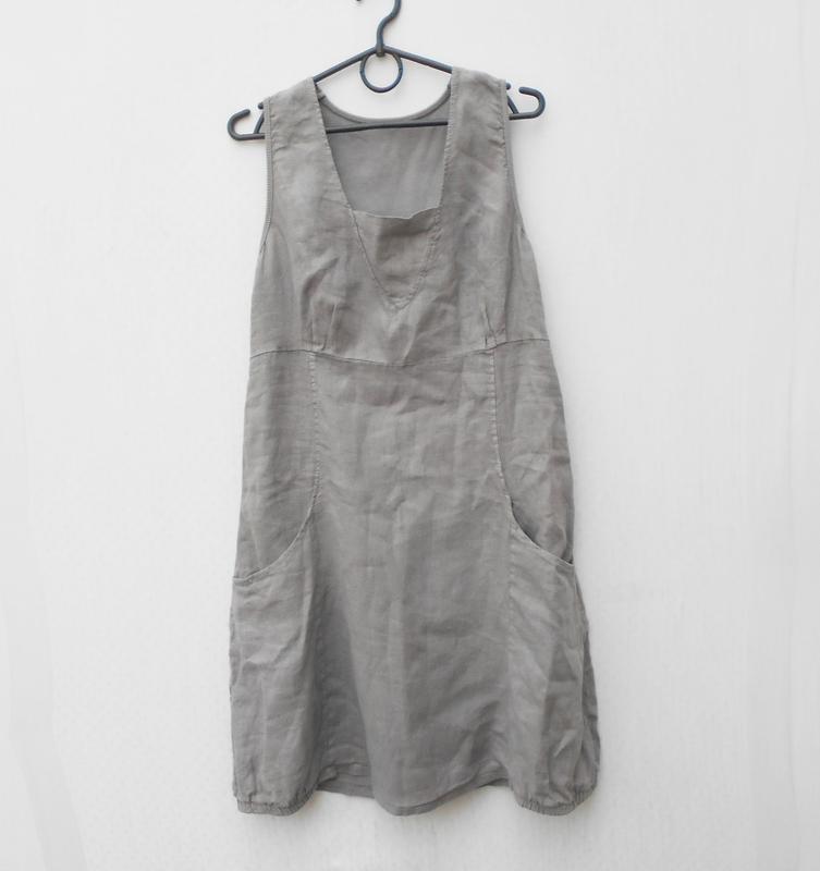 Летнее льняное легкое платье