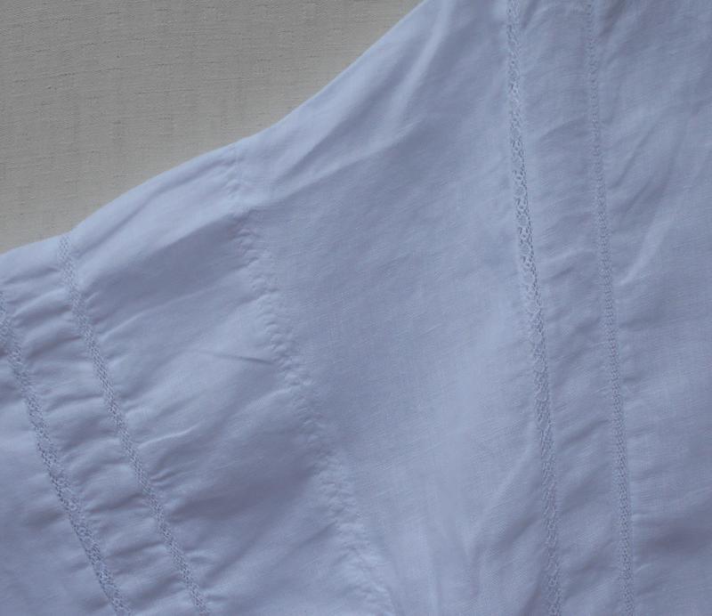 Белая летняя льняная блузка оверсайз zara - Фото 6